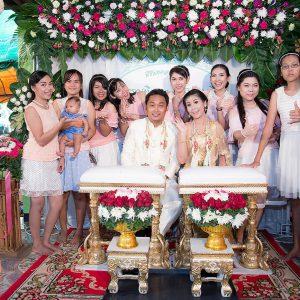 พิธีมงคลสมรส คุณพรรณทิวา คุณชาญวุฒิ อําเภอนาโพธิ์ จังหวัดบุรีรัมย์
